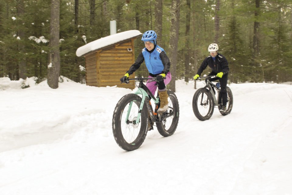 Fatbiking at Demonstration Forest Two Harbors